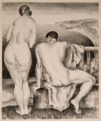 Mabel Alvarez, Nudes Above the Sea, Ca. 1932