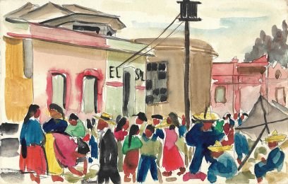 Victor Arnautoff – Mexico Street Scene