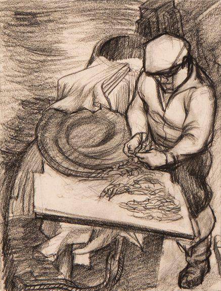 Victor Arnautoff - Study for the Fisherman