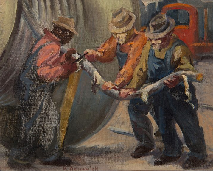 Victor Arnautoff - Study for Cable Men
