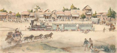 Otis Oldfield – San Joaquin Town in the 1860s