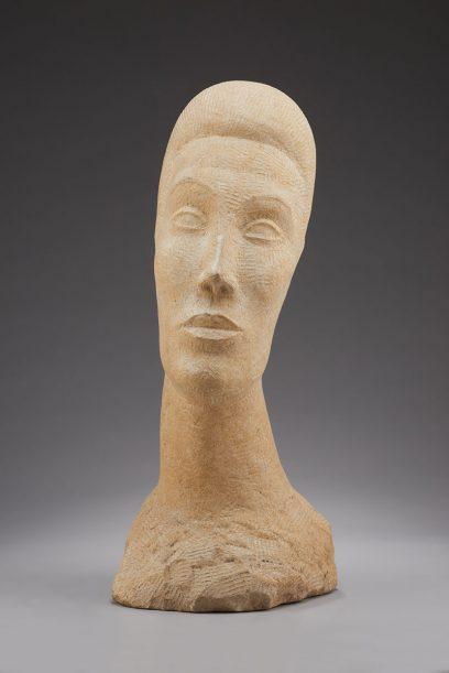 Nina Saemundsson – Head of a Woman – White