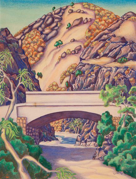 Gordena Parker Jackson - Canyon with Bridge