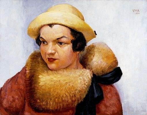Victor Arnautoff - (Woman in Yellow Fur)