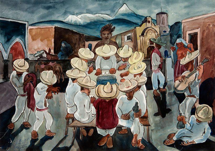 Bernard Baruch Zakheim - A Night in Mexico