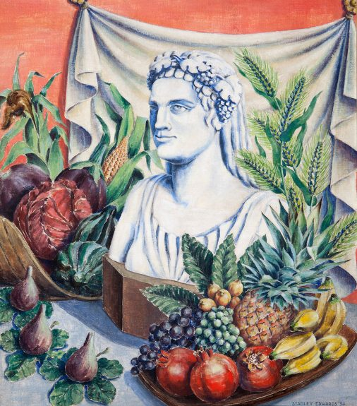 Stanley Murray Edwards - Roman Bust with Fruit