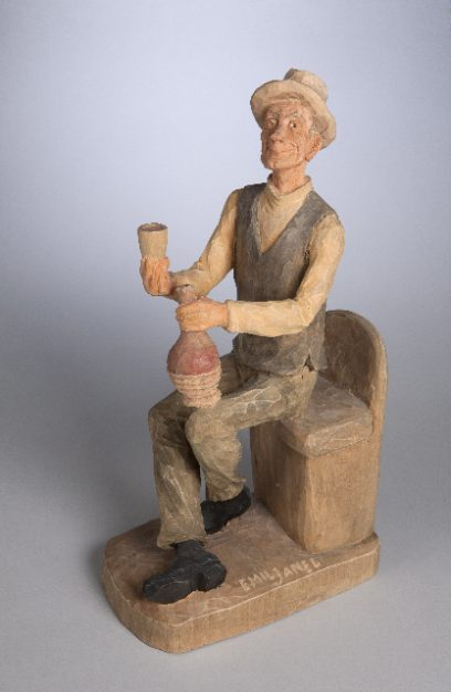 Emil Janel – Seated Man with Cup and Jug