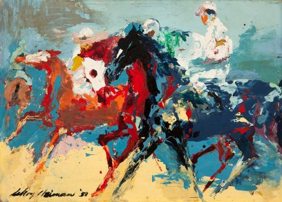 LeRoy Neiman – Racehorses at Hollywood Park