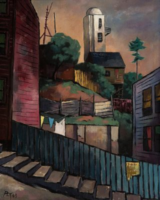 Paul Leland Thompson - View of Pasquale's Tower from Kearny Street, San Francisco