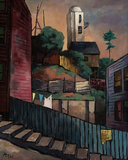 Paul Leland Thompson – View of Pasquale's Tower from Kearny Street, San Francisco