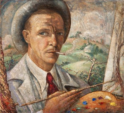 Benjamin Vaganov – Self Portrait With Palette