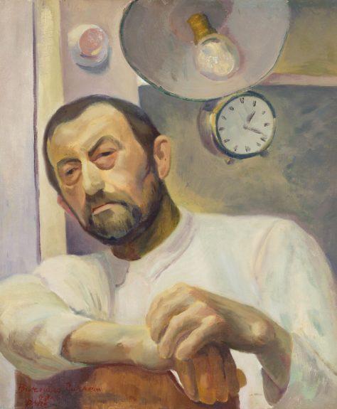 Bernard Baruch Zakheim Manservant with Clock