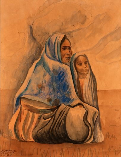 Roberto Berdecio – Untitled (Indian Woman and Child)