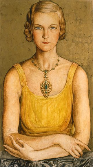 Jose Moya del Pino - Portrait of Frances Moore