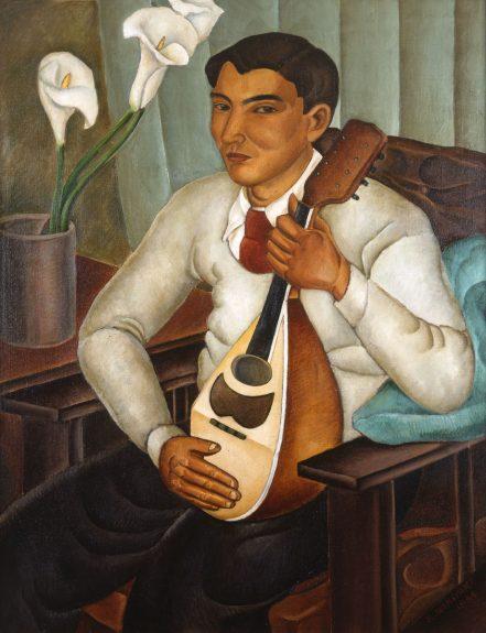 Koichi Nomiyama - Self Portrait (Man Holding Mandolin)