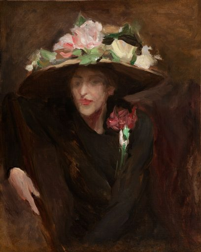 Rex Slinkard – Untitled (The Flowered Hat)