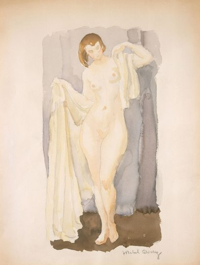 Mabel Alvarez – Standing Nude with White Drapery