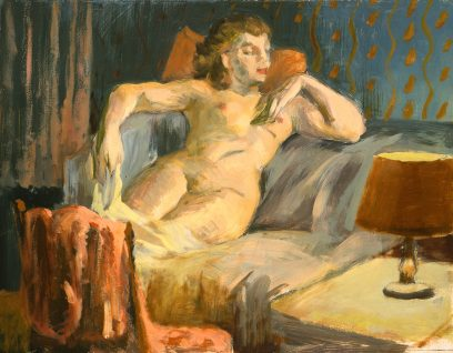 Victor Arnautoff – Untitled (Woman with Red Lamp)