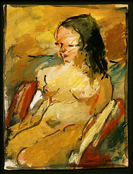 Otis Oldfield - Nude with Serape