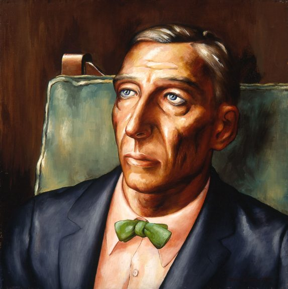 John Langley Howard - Vasia Anikeef (Man Wearing Green Bow Tie)