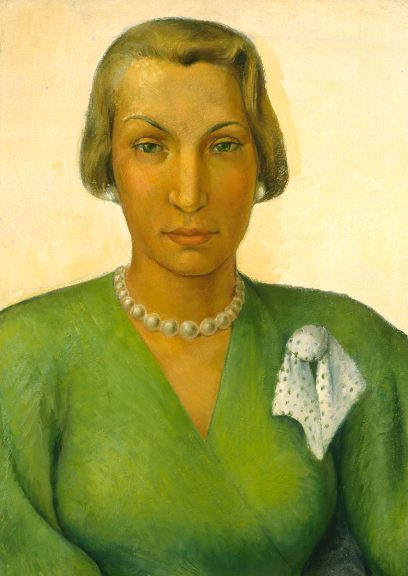 Victor Arnautoff – The Green Dress