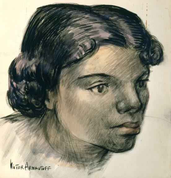 Victor Arnautoff - Head of a Woman