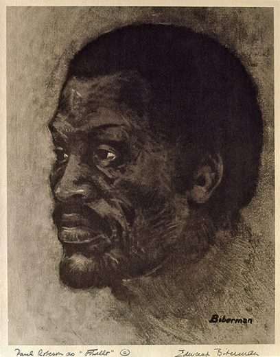 Edward Biberman – Paul Robeson as Othello