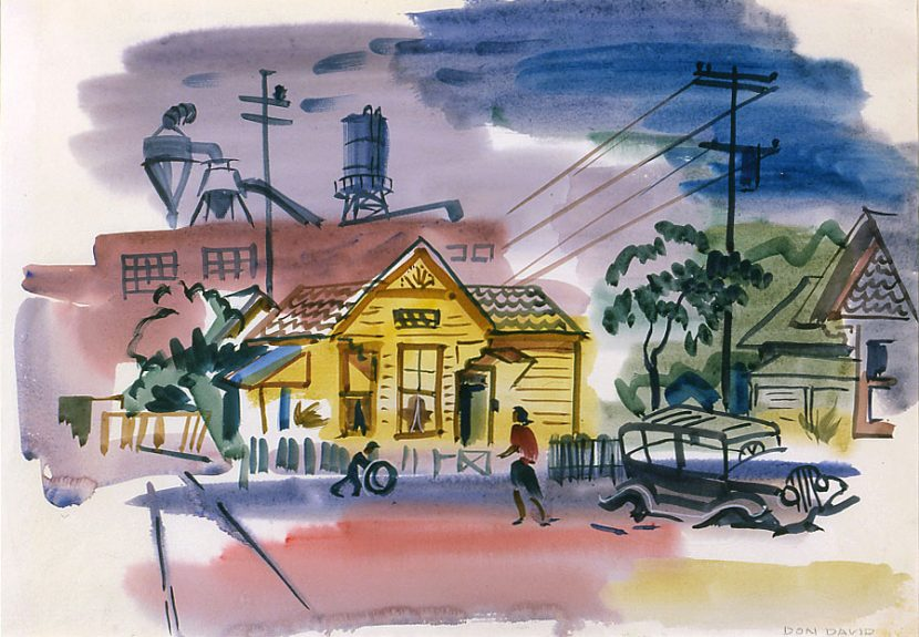 Don David - Untitled (Mill Town Scene)