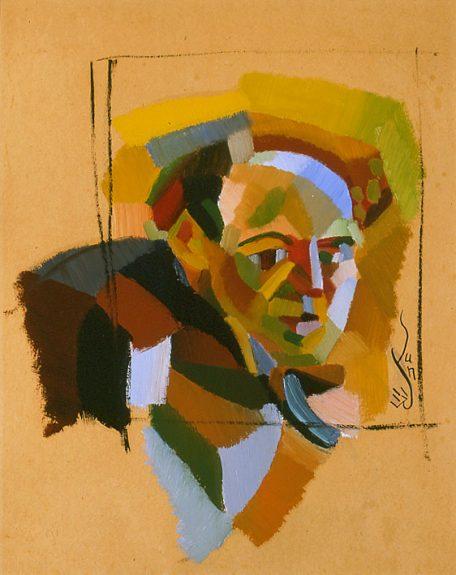 Yun Gee - Portrait of Otis Oldfield