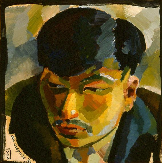 Otis Oldfield - Portrait of Yun Gee