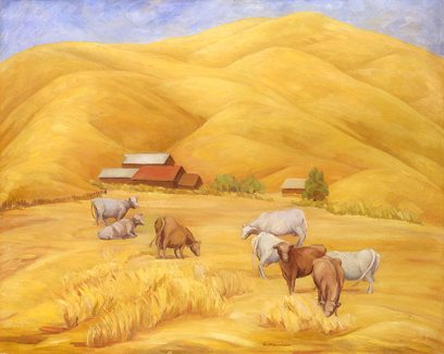 Ruth Armer – Landscape with Cows