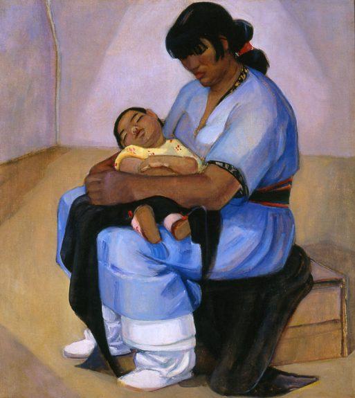 Helena Dunlap - Taos Mother & Child