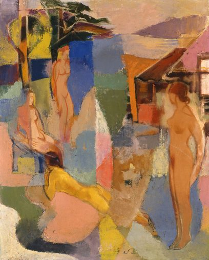 John Emmett Gerrity – Four Figures in Bayscape