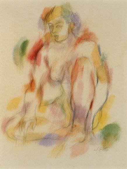 John Emmett Gerrity - Seated Female Nude