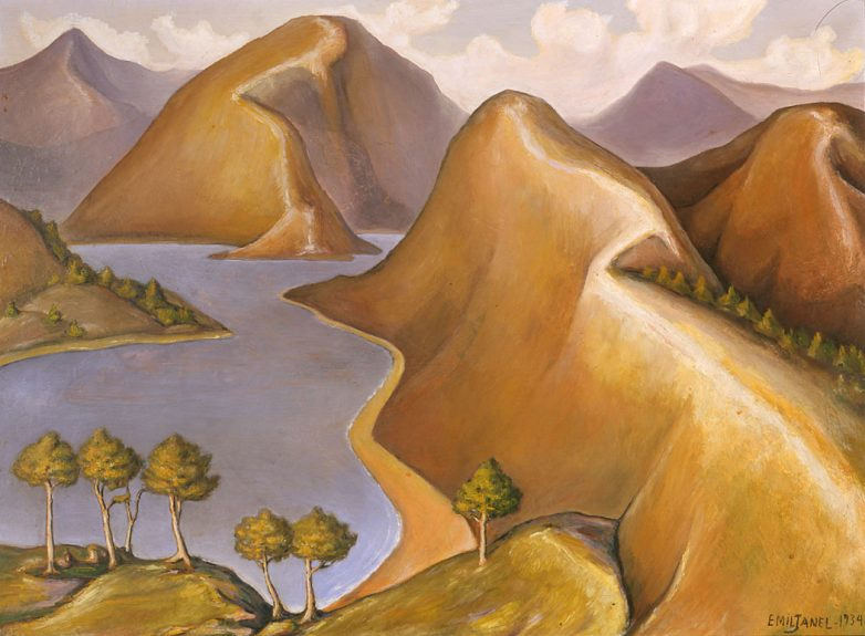 Emil Janel - Untitled (Mountains and Inlets)