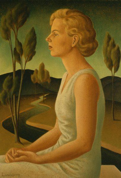 Helen Lundeberg – Portrait of Inez