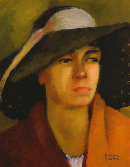 Helen Clark Oldfield - Model With Hat
