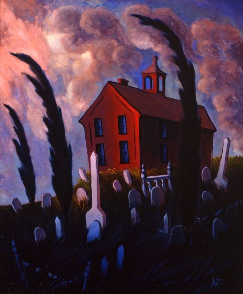 Marion Randall Parsons - Schoolhouse and Graveyard, Columbia