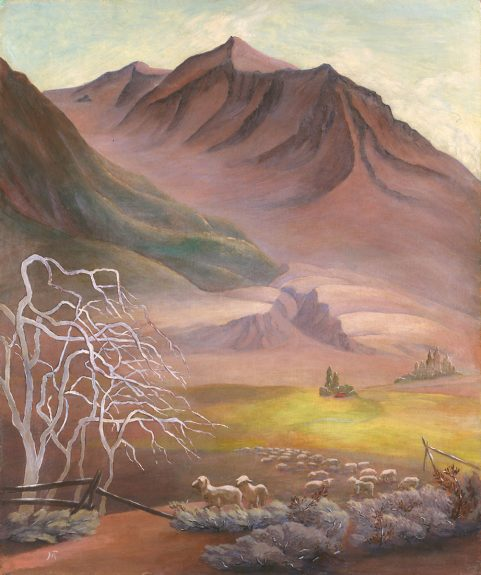 Marion Randall Parsons - Untitled (Sheep in the Valley)