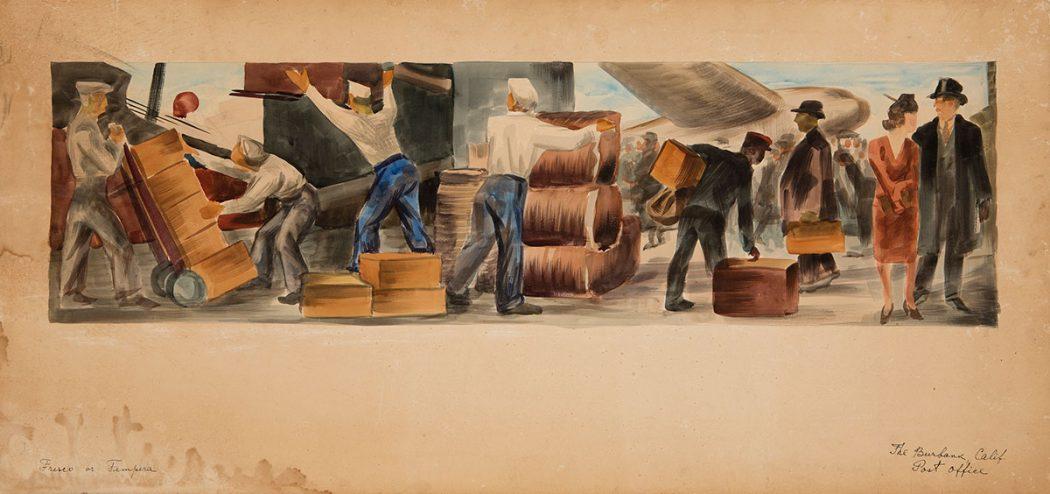 Victor Arnautoff - Mural Study – Burbank Post Office