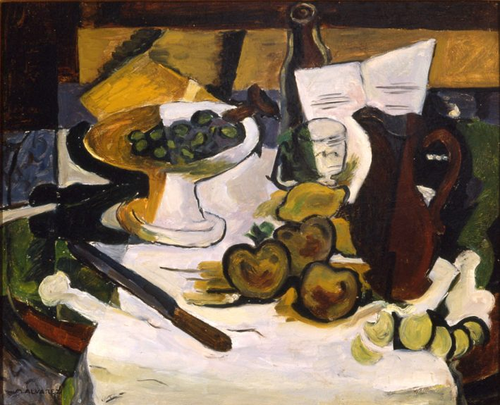 Mabel Alvarez - Still Life With Footed Bowl and Brown Pitcher