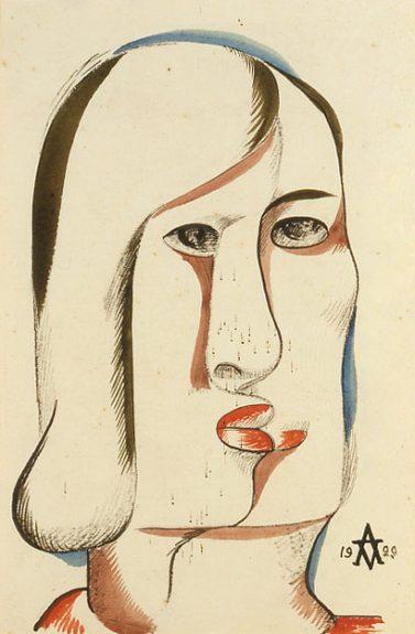 Victor Arnautoff - Untitled (Cubist Woman)