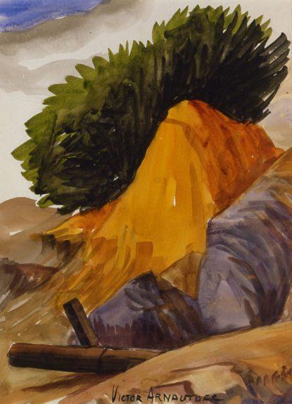 Victor Arnautoff - Untitled (Hillside Landscape)