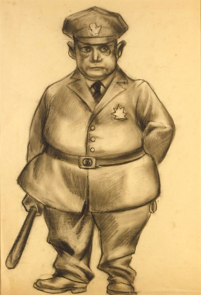 Victor Arnautoff – Untitled (Police Officer)