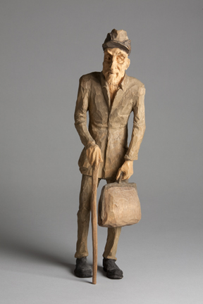 Emil Janel – Man with Cane and Bag