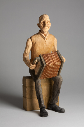 Emil Janel – Seated Man With Accordion