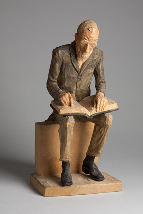 Emil Janel – Seated Man With Book