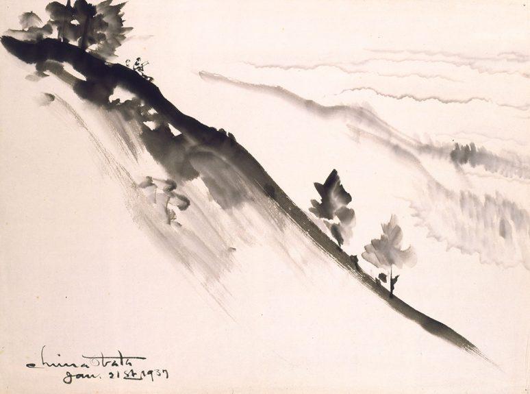 Chiura Obata - Untitled (Hillside)