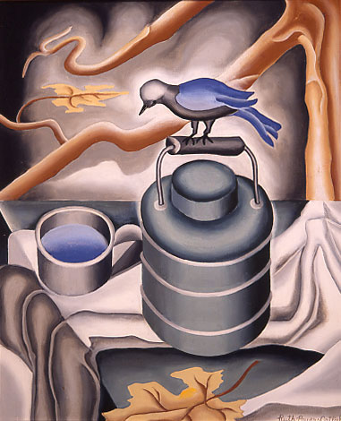 Ruth Powers Ortlieb - Bird on Thermos Bottle
