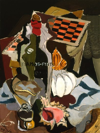Stanton Macdonald Wright – Untitled (Still Life with Game Board and Wine)